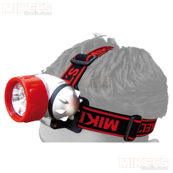 LAMPARA TIPO MINERO CON LEDS INCLUYE 3 PILAS AAA MIKELS Modelo LTML-3AAA